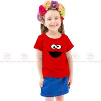 Cookie Monster Red Kids Girl T-Shirt