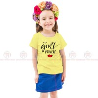 Girl Power Yellow Kids Girl T-Shirt