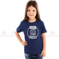 Girls Power Blue Kids Girl T-Shirt