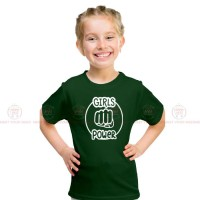 Girls Power Green Kids Girl T-Shirt