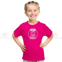 Girls Power Smile Pink Kids Girl T-Shirt