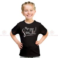 Make Me Smile Black Kids Girl T-Shirt