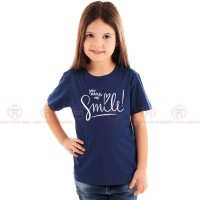 Make Me Smile Blue Kids Girl T-Shirt