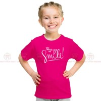 Make Me Smile Pink Kids Girl T-Shirt