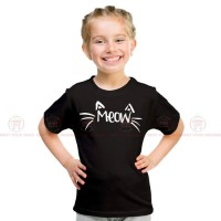 Meow Black Kids Girl T-Shirt