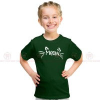 Meow Green Kids Girl T-Shirt