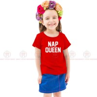 Nap Queen Red Kids Girl T-Shirt