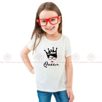 Queen White Kids Girl T-Shirt