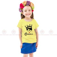 Queen Yellow Kids Girl T-Shirt