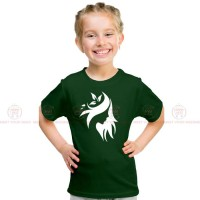 Stylish Green Kids Girl T-Shirt