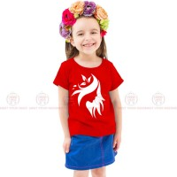 Stylish Red Kids Girl T-Shirt