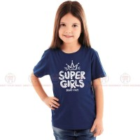 Super Girls Blue Kids Girl T-Shirt