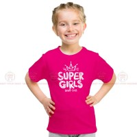 Super Girls Pink Kids Girl T-Shirt