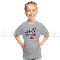 Girl Power Grey Kids Girl T-Shirt