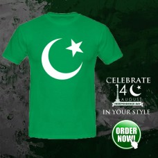 Pak Flag Logo Half Sleeves Printed T-Shirt
