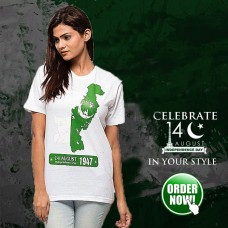 I Love Pak Green Half Sleeves Printed T-Shirt