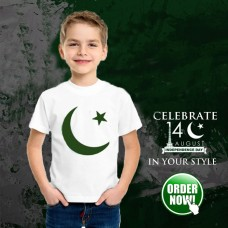 Pak Flag Half Sleeves T-Shirt for Kids