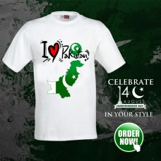 I Love Pak Half Sleeves Printed T-Shirt For Men's