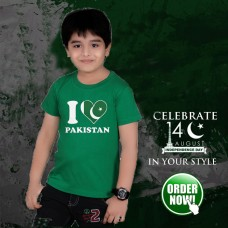 Love Pak Half Sleeves Printed T-Shirt for Kids