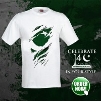 Independence Day White Half Sleeves Printed T-Shirt