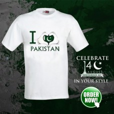 I Love Pak Logo Half Sleeves Printed T-Shirt
