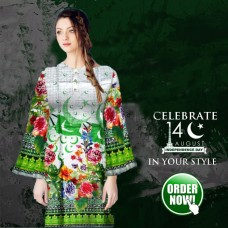 Pak Flag Kurti for Women's