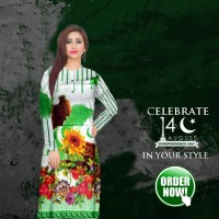 Pak Logo Kurti For Women's