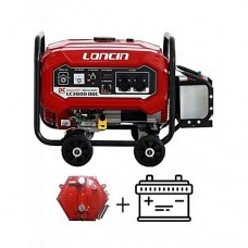 Loncin 2.5 KVA With Battery & Gas Kit Generator LC3600DDC