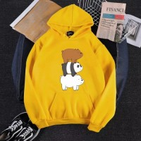 Bear Yellow Pullover Hoodie For Girls