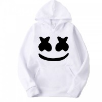 Marshmellow White Pullover Hoodie For Ladies
