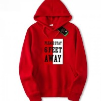 Unisex High-Quality Pullover Red Fleece Hoodie