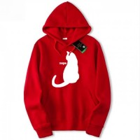 WhiteCat Red Pullover Cool Hoodies For Girls