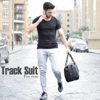 Black T-Shirt & Grey Trouser Summer Collection Tracksuit
