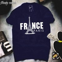 France Navy Blue Half Sleeves T-Shirt For Men