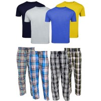 Bundle Of 4 Casual Trousers with 4 Round Neck T-Shirts