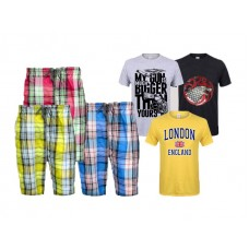 Bundle Of 3 Casual Shorts & Printed T-Shirts