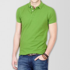 Plain High Quality Polo in Parrot Green