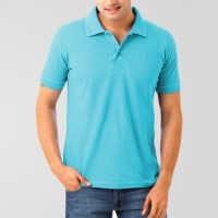 Plain High Quality Polo in Turquoise