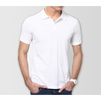 Plain High Quality Polo in White