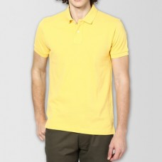Plain High Quality Polo in Yellow