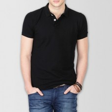 Plain High Quality Polo in Black