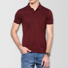 Plain High Quality Polo in Maroon