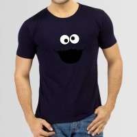 Cookie Round Neck T-Shirt in Blue