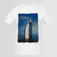 Dubai Printed Round Neck T-Shirt