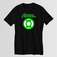 Green Lantern Printed Round Neck T-Shirt in Black