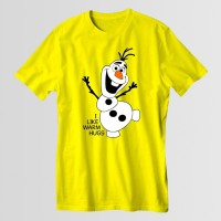I Like Warm Hugs Round Neck T-Shirt in Yellow