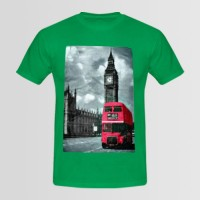 London Printed Round Neck T-Shirt