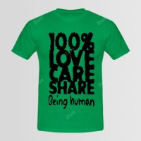Love Care Printed Round Neck T-Shirt