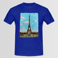 Paris Printed Round Neck T-Shirt