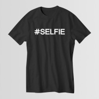 Selfie Round Neck T-Shirt in Black